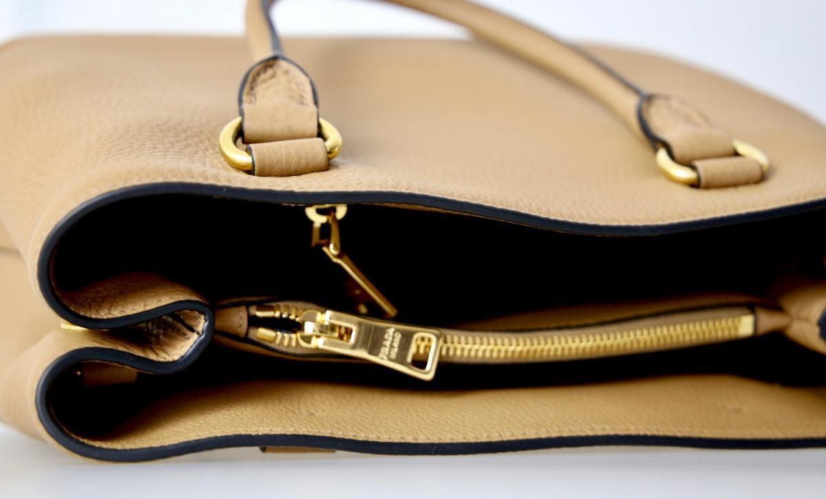luxus prada schulter tasche handtasche 1ba058 hellbraun neu new ebay. Black Bedroom Furniture Sets. Home Design Ideas