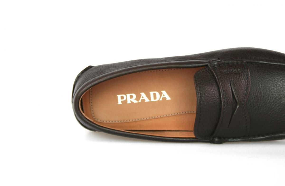 luxus prada driver schuhe slipper 2d1102 caffe neu 495 euro 7 41 41 5 ebay. Black Bedroom Furniture Sets. Home Design Ideas