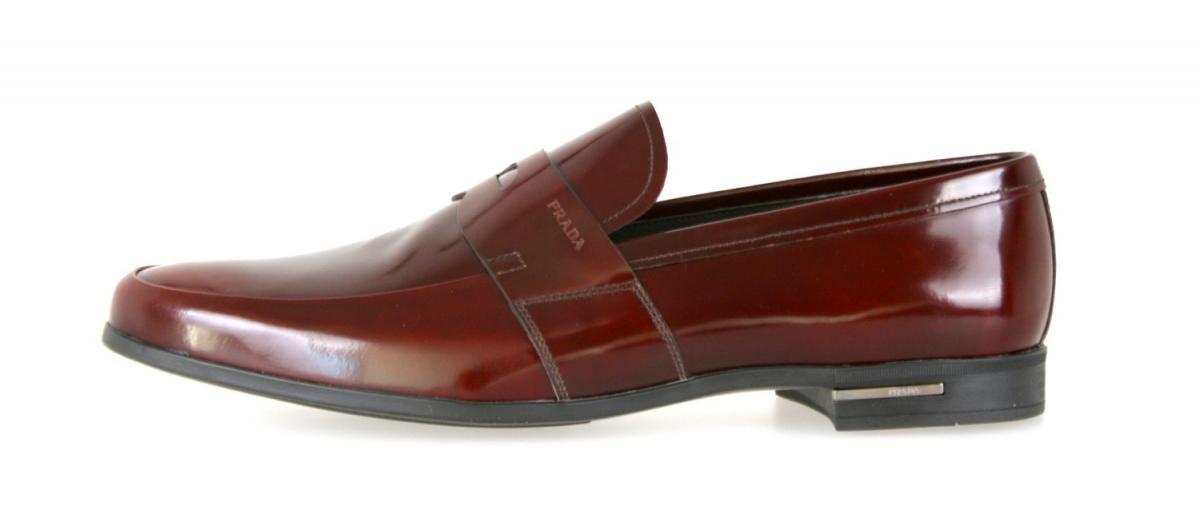 luxus prada slipper penny loafer schuhe 2de010 braun neu new 9 43 43 5 ebay. Black Bedroom Furniture Sets. Home Design Ideas