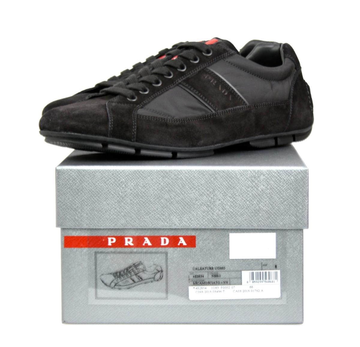 luxus prada monte carlo sneaker schuhe 4e2854 schwarz neu new 7 41 41 5 ebay. Black Bedroom Furniture Sets. Home Design Ideas