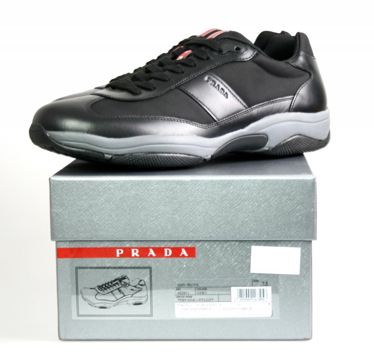 luxus prada sneaker americas cup schuhe 4e2911 schwarz neu new 8 42 42 5 ebay. Black Bedroom Furniture Sets. Home Design Ideas