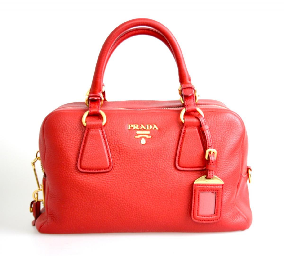 luxus prada schulter tasche handtasche b3091m rot neu new. Black Bedroom Furniture Sets. Home Design Ideas