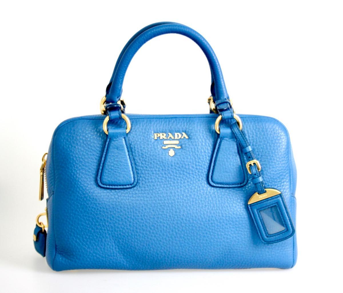 luxus prada schulter tasche handtasche b3091m blau neu new. Black Bedroom Furniture Sets. Home Design Ideas