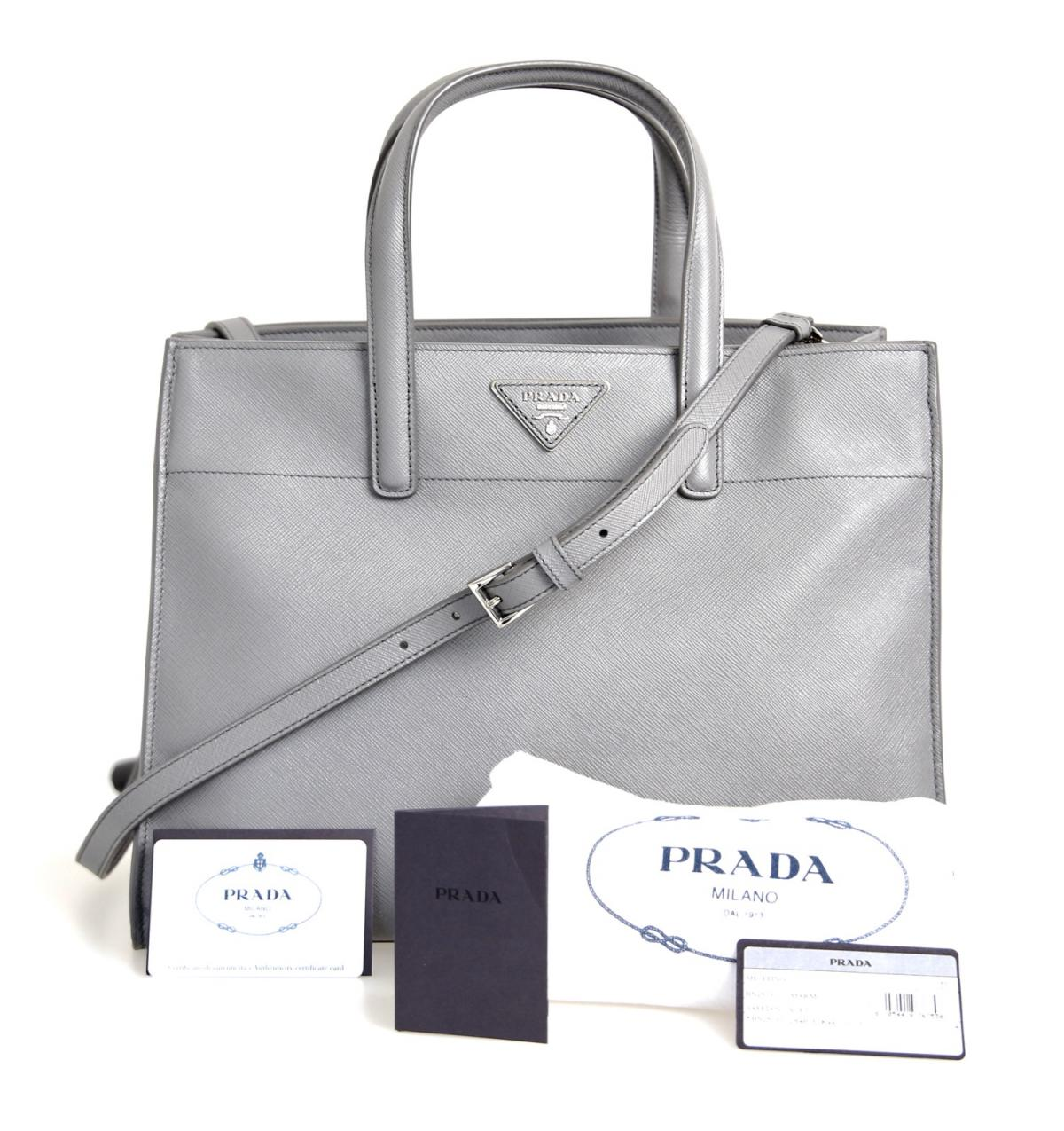 luxus prada saffiano schulter tasche handtasche bn2603. Black Bedroom Furniture Sets. Home Design Ideas