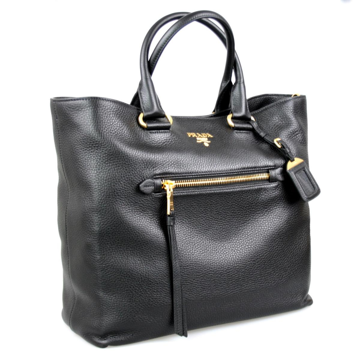 luxus prada tasche shopper handtasche bn2754 schwarz neu new ebay. Black Bedroom Furniture Sets. Home Design Ideas