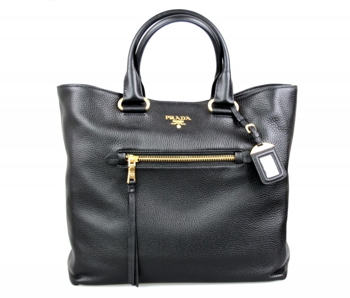 luxury prada bag shopper handbag bn2754 black new new ebay. Black Bedroom Furniture Sets. Home Design Ideas