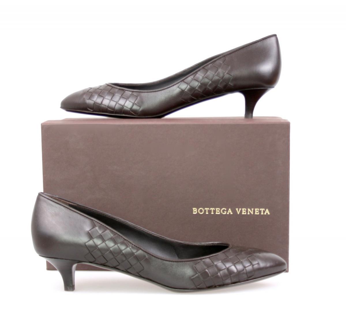 luxus bottega veneta pumps schuhe vk851 espresso neu new 40 40 5 uk 7 ebay. Black Bedroom Furniture Sets. Home Design Ideas