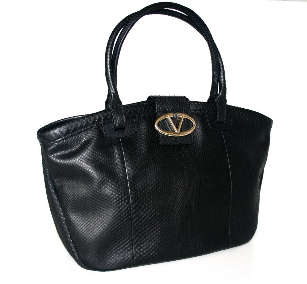 valentino schulter tasche handtasche schwarz echtes. Black Bedroom Furniture Sets. Home Design Ideas